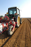 Tractor at field. Tractor working at the field Royalty Free Stock Photos