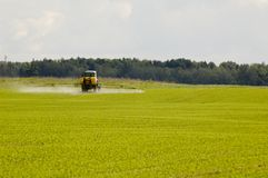 Tractor at the field Stock Photography