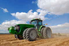 Tractor at field. Tractor working at the  field Stock Photography