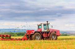 Tractor on field Royalty Free Stock Image