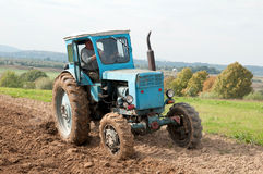 Tractor in field Stock Images