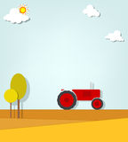 Tractor in a field. This is file of EPS10 format Royalty Free Stock Photography