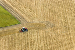 Tractor on field Stock Photography