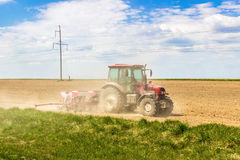 Tractor in the field Royalty Free Stock Photo
