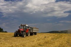 Tractor on a field Royalty Free Stock Photo