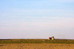 Tractor on a field Royalty Free Stock Images