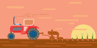 Tractor in the field Royalty Free Stock Images