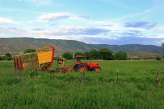 Tractor in a field Royalty Free Stock Photos