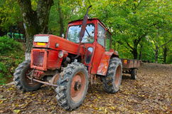 Tractor in the forest Royalty Free Stock Image