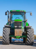 Tractor front view copy space Stock Photo