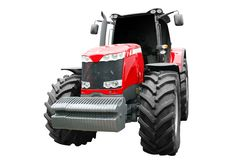 Tractor front view isolated Royalty Free Stock Image