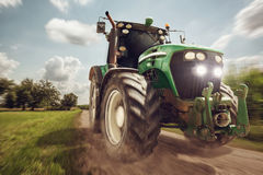 Tractor in full speed Royalty Free Stock Photography