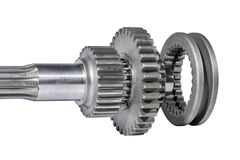 Tractor gear wheels and shaft Royalty Free Stock Images