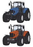 Tractor. Hand drawing of two tractors Royalty Free Stock Image