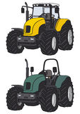 Tractor. Hand drawing of two tractors Stock Images