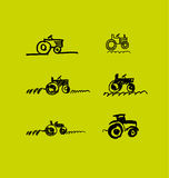 Tractor hand drawn icon. Royalty Free Stock Images