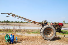 Tractor hand made in thailand. Stock Photos