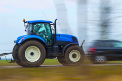 Tractor. Hastily goes on field Stock Images