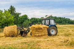 Tractor with a hay Stock Image