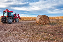 Tractor and hay Royalty Free Stock Photography