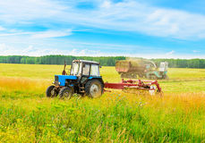 Tractor with a hay Royalty Free Stock Photos