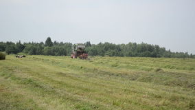 Tractor hay shaker stock video footage
