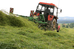 Tractor-haymaking Stock Image