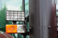 Tractor Headlights and Grill Royalty Free Stock Photo