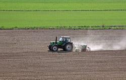 Tractor in het Werk Stock Fotografie