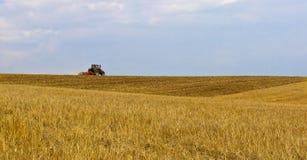 Tractor on Horizon Stock Image