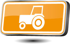 Tractor icon Stock Photo