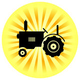 Tractor icon Stock Images