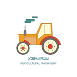 Tractor  icon. Agricultural machinery. Vector illustration. Tractor  logo design template. harvest or farm icon Stock Photos