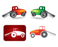 Tractor icon. Agriculture concept on white background stock illustration