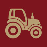 The tractor icon. Agrimotor symbol. Flat Stock Photography