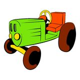 Tractor icon cartoon. Tractor icon in cartoon style isolated vector illustration Royalty Free Stock Image