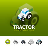 Tractor icon in different style Stock Image