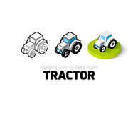 Tractor icon in different style Royalty Free Stock Image