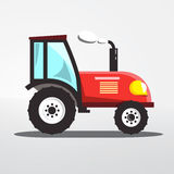 Tractor Icon Isolated. Vector Flat Design Agriculture Machine Royalty Free Stock Photography