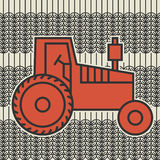 Tractor icon or sign Stock Photos