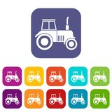 Tractor icons set Stock Photo