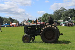 Tractor ID Parade. Oxfordshire Young Farmers county fair held near Spelsbury, Parade of vintage tractors Royalty Free Stock Photos