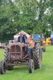 Tractor ID Parade. Oxfordshire Young Farmers county fair held near Spelsbury, Parade of vintage tractors Stock Photo