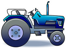 Tractor. Illustrated isolated tractor clip art image Royalty Free Stock Photography