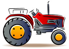 Tractor. Illustrated isolated tractor clip art image Royalty Free Stock Images