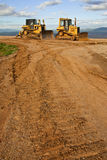 Tractor In Construction Site On Mountain Stock Image
