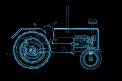 Tractor isolated on black Royalty Free Stock Images