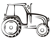 Tractor isolated vector illustration Royalty Free Stock Image