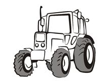 Tractor isolated vector illustration Stock Photo