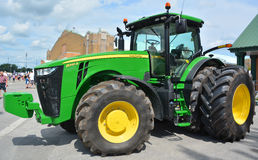 Tractor John Deere 8345 R. SAINT HYACINTHE QC CANADA JULY 25 2015:Tractor John Deere 8345 R. Deere & Company, the firm founded by John Deere, began to expand its Stock Photos